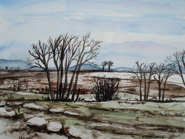 Winterlandschaft2 30 x 40 cm Aquarell